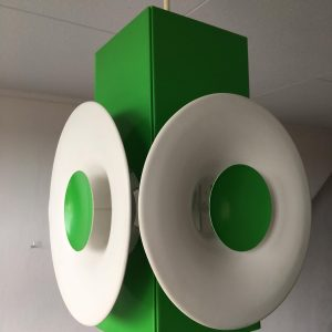 Green Temde German Swiss mid century modern Space Age Pendant echt vintage