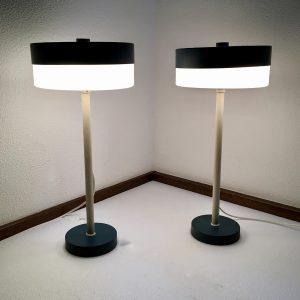 Very Rare 50's Table Light Set - Philips - Louis Kalff Lamp echt vintage