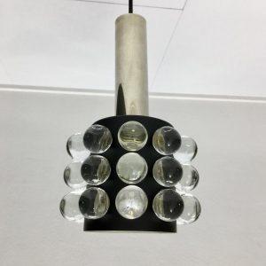 Rare Glass light Doria Lichtenwerken - Mid Century modern Pendent lamp