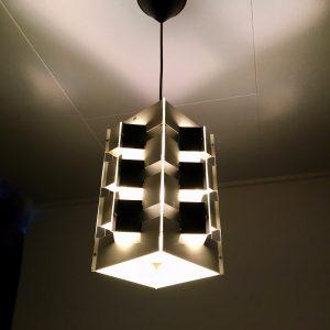 ANVIA pendent light - Jan Hoogervorst - 60's Dutch Design lamp - black & white