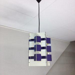 ANVIA - 60's Pendent Light - Jan Hoogervorst - Dutch Design Lamp - Purple echt vintage