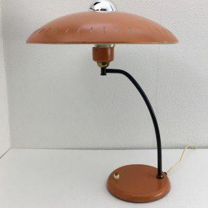 Philips 50's metal table lamp - rare Louis Kalff light