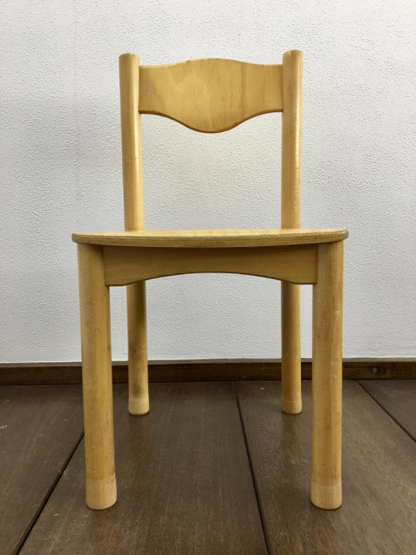Schilte Children's school chair - 70's wooden Kids stool