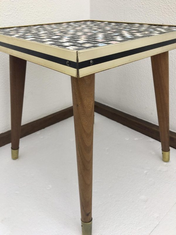 Vintage Midcentury Site Table with Mosaic Tiles - Plant Stand - 60's or 70's