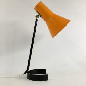 ANVIA 6043 - 60's desk light - Jan Hoogervorst - Dutch design lamp - rare orange horseshoe