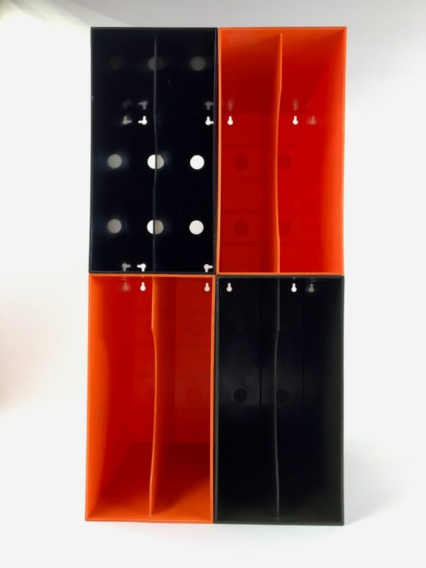 vintage Record Holders - Dutch lp box - 12 inch vinyl box