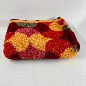 Vintage Dralon Acrylic plaid Retro blanket 70's