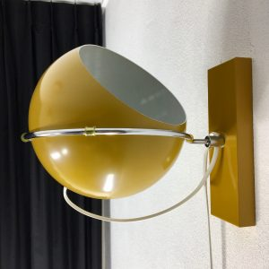 GePo wall lamp - metal - Dutch 70's design Space Age light