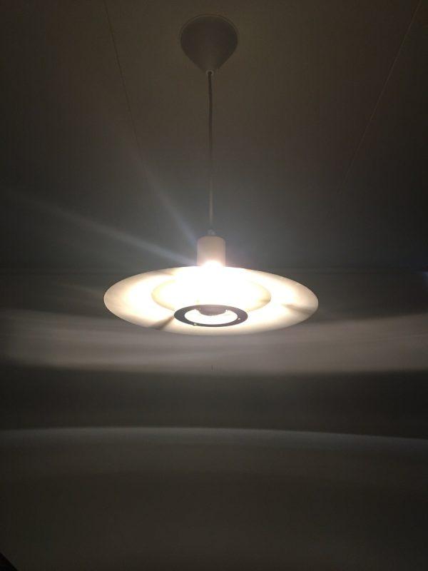 Dark Lyskaer pendent light - Scandinavian modern 70's Danish lamp