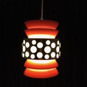 Space age light pendant - 70's lamp by Massive Belgium