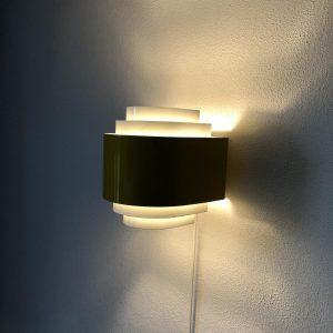 Yellow Svera space age wall light - Hans Agne Jakobsson Nederland vintage lamp