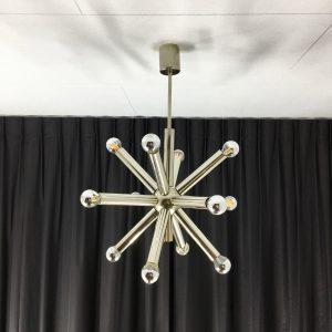 Sputnik ceiling light - 60s / 70s chrome Space age lamp - Sciolari