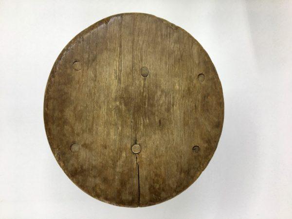 Vintage brutalist wood side table - rare 30's plant stand - stool