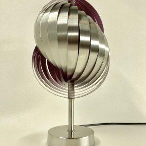 Vintage metal table light - rare Henri Mathieu lamp