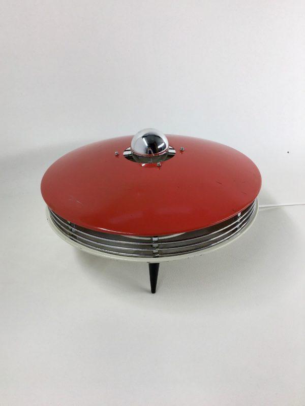 50's converted heater UFO lamp - Itho tripod table light