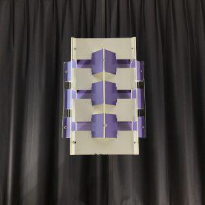 ANVIA pendent lamp - Jan Hoogervorst - 60's Dutch design light - purple