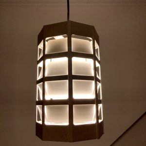 Lyskurv hanging lamp by Poul Gernes for Louis Poulsen Mid-Century Scandinavian modern rare pendent light