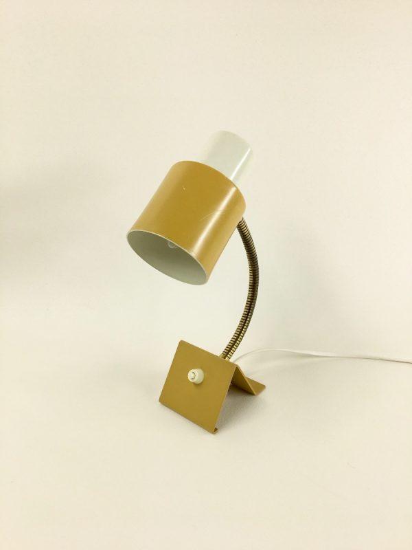 Hala Zeist lamp 60's - Dutch vintage desk / wall light - ocher yellow