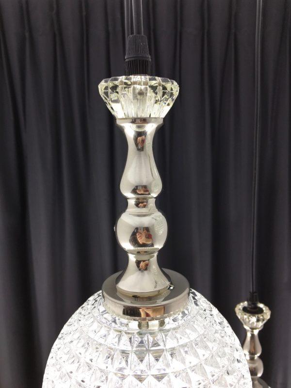 5 light cascading pendent - Vintage 70's glass lamp - Germany