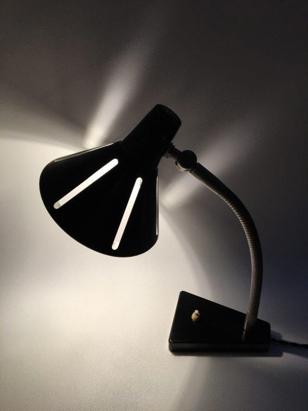 Hala Zeist no. 20 Solar series lamp - Zonneserie 50's - Dutch design - vintage Aluminium desk light