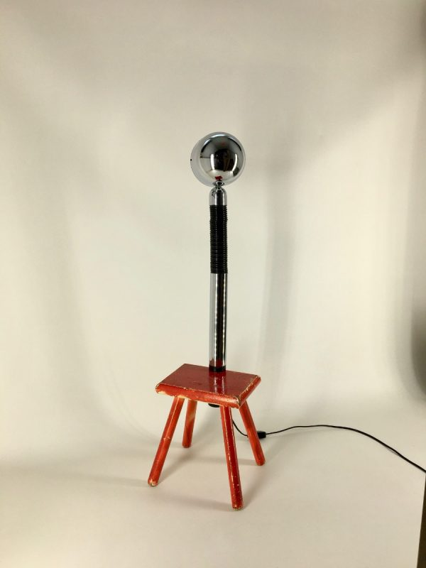 Vintage Targetti pinch lamp - Italian clip light - chrome space age gooseneck clamp lamp