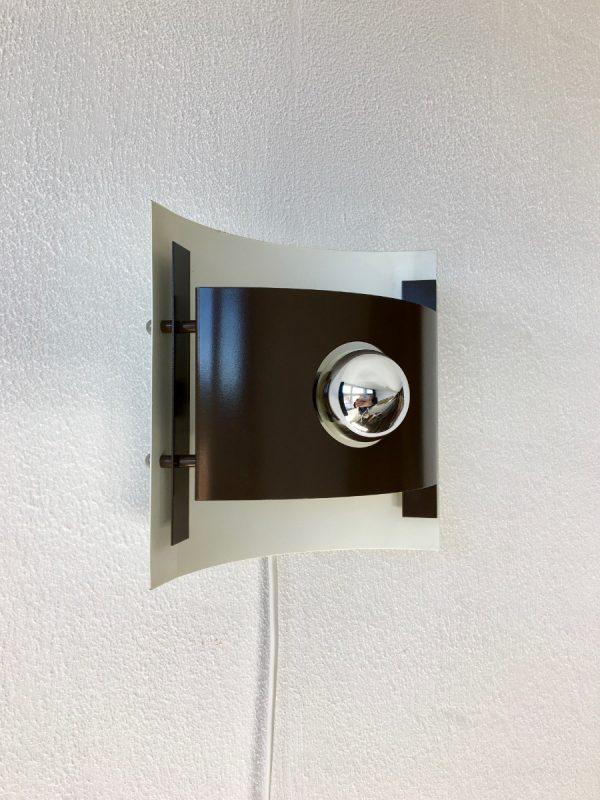 ANVIA Almelo wall light - brown metal 70's lamp