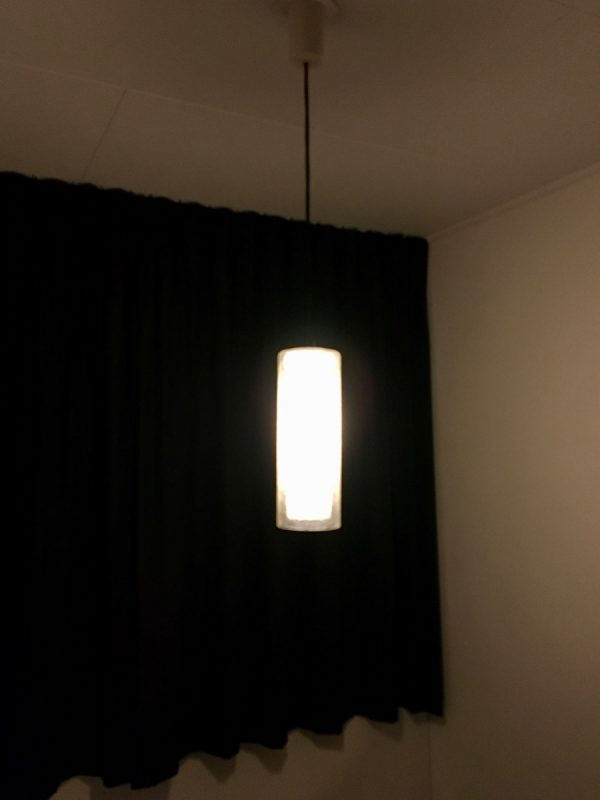 Doria Lichtenwerken - 60's glass light - mid century pendent lamp