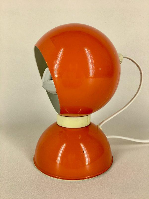 Eyeball lamp - Space age table light - Reggiani Depositato 70's orange panton age - pop art