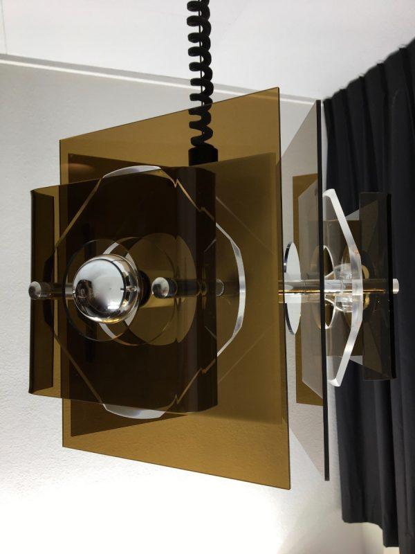 Herda Space age lamp - Plexiglass 70's Dutch pendent light - adjustable in height