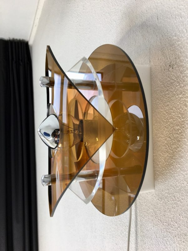 Herda space age plexiglass 70's wall light perspex lamp