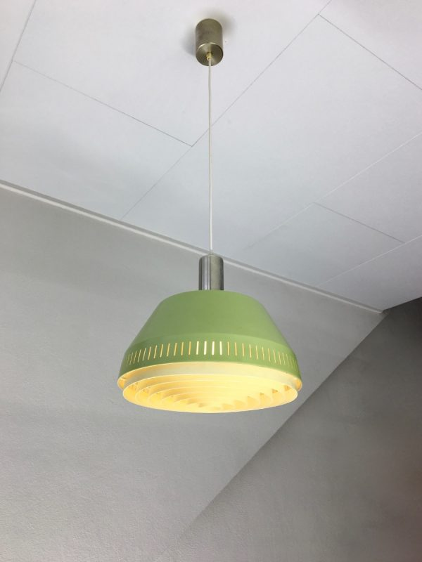 Mid Century design hanging lamp - 60's modern pendant light - Rockabilly - metal Philips
