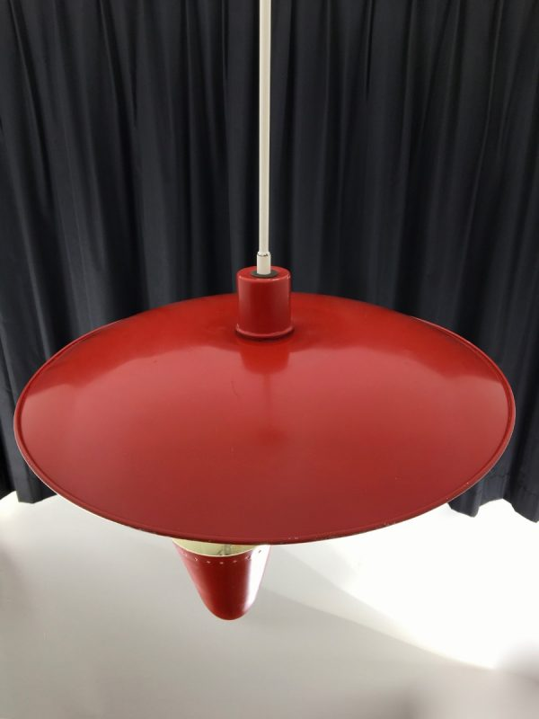 Iconic Busquet ceiling lamp - HALA Zeist 3 light - Dutch design - vintage 50's xl pendant lamp