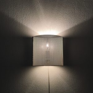 David gl Belysning - vintage wall light - Model 1905 - Denmark - space age perforated metal lamp - Pilastro modern style
