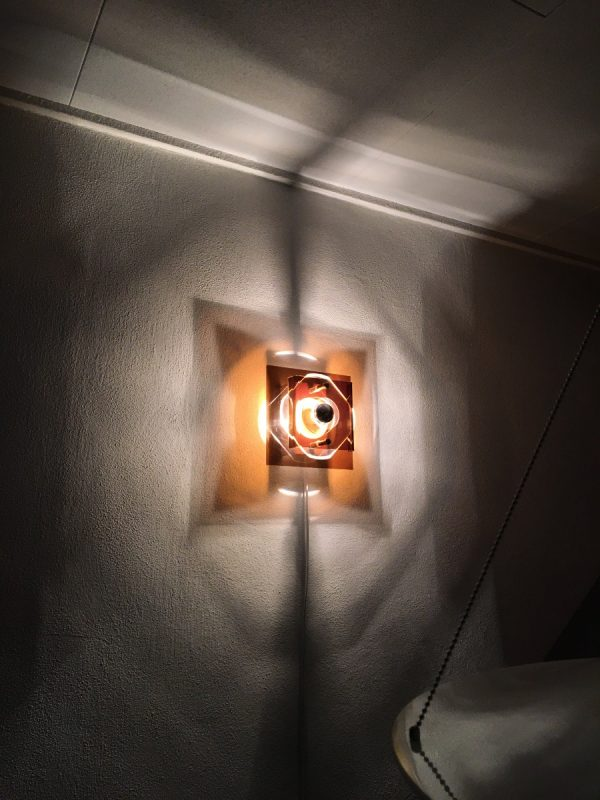 Herda Space Age Lamp - Plexiglass 70's Wall light - perspex vintage Dutch