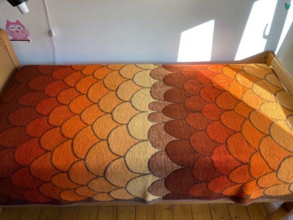 Tetem Vintage Retro plaid, orange - yellow - brown blanket 70's