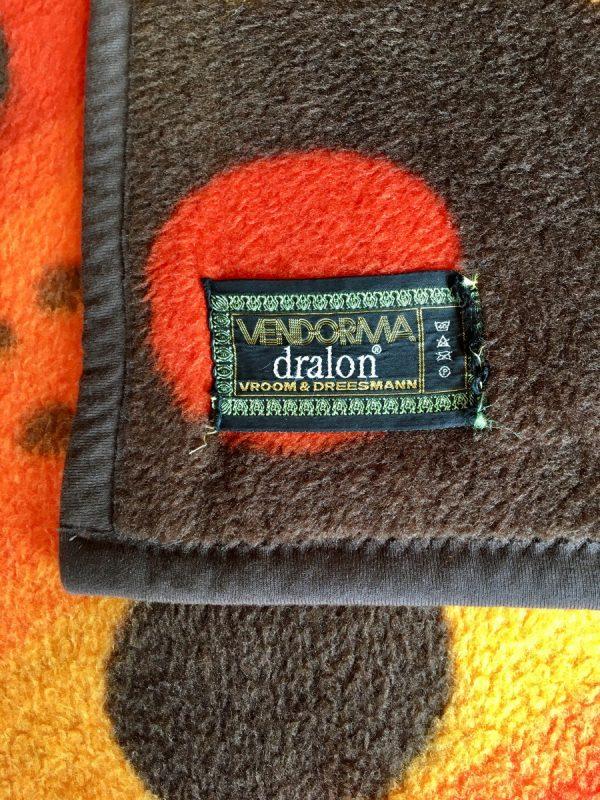 V&D Vintage Dralon Acrylic plaid - Vendorma Retro blanket 70's