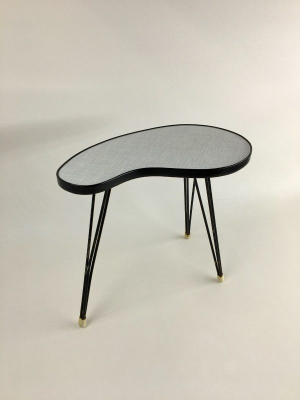 Vintage Formica Site Table, Hairpin Legs, Midcentury Modern Plant Stand, Tripod 50's / 60's
