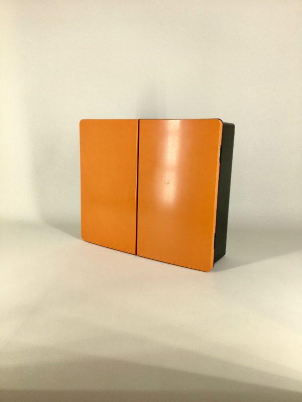 Vintage medicine cabinet - 60's - Retro storage box - bathroom closet - two tone space age