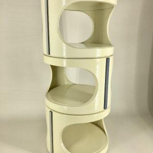 3 Vintage space age tables - plastic 70s stackable side tables set - Panton era