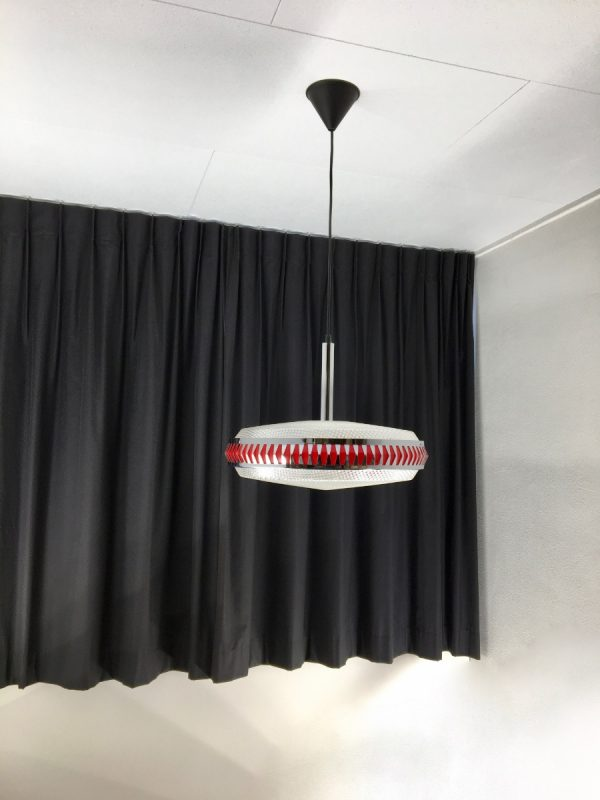 Space age lamp Massive - 70's round TL pendent light - fluorescent