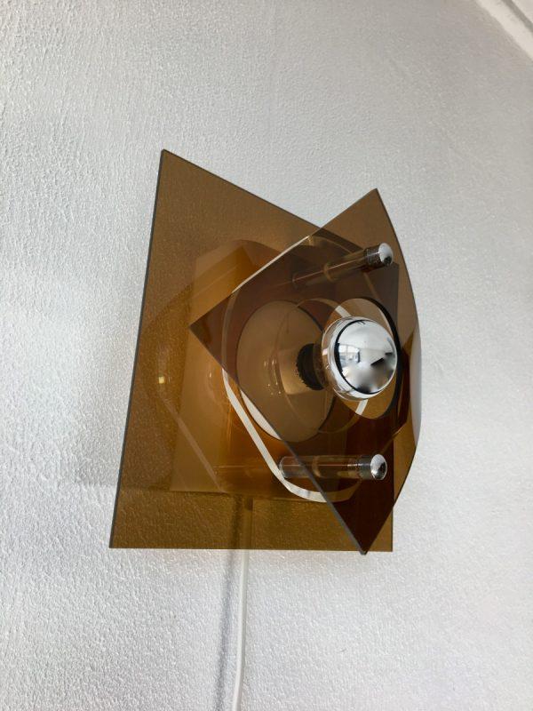 Herda space age lamp - Plexiglass 70's wall light - perspex vintage Dutch vintage
