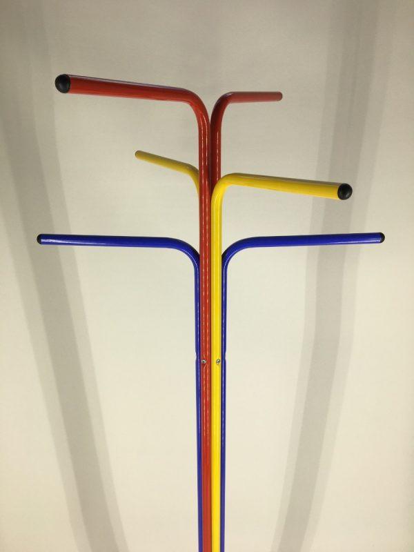 IKEA PLAGG standing coat rack - Vintage metal floor coat rack - primary colors Memphis style