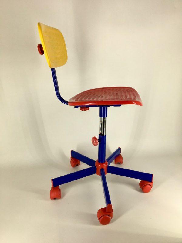 Memphis Style Chair - IKEA Kids Skandinavian Bureau Stool - 1992 - Knut & Marianne Hagberg design