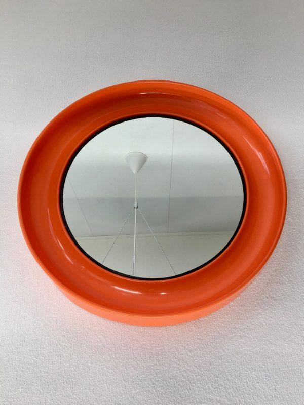 vintage-Orange-space-age-mirror-Termotex-echtvintage-70s-Denmark-pop-art-