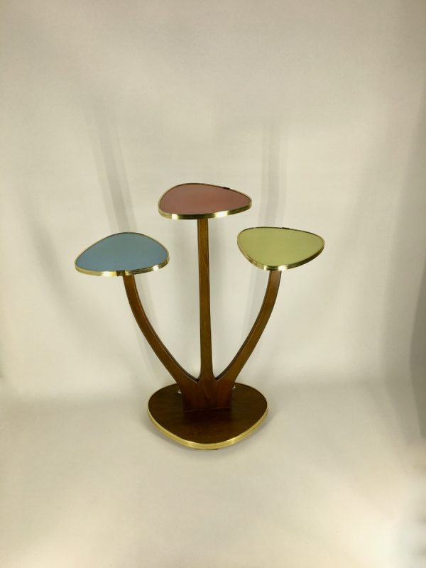 4 Tier Vintage Midcentury Formica Site Table - Plant Stand - 50's / 60's