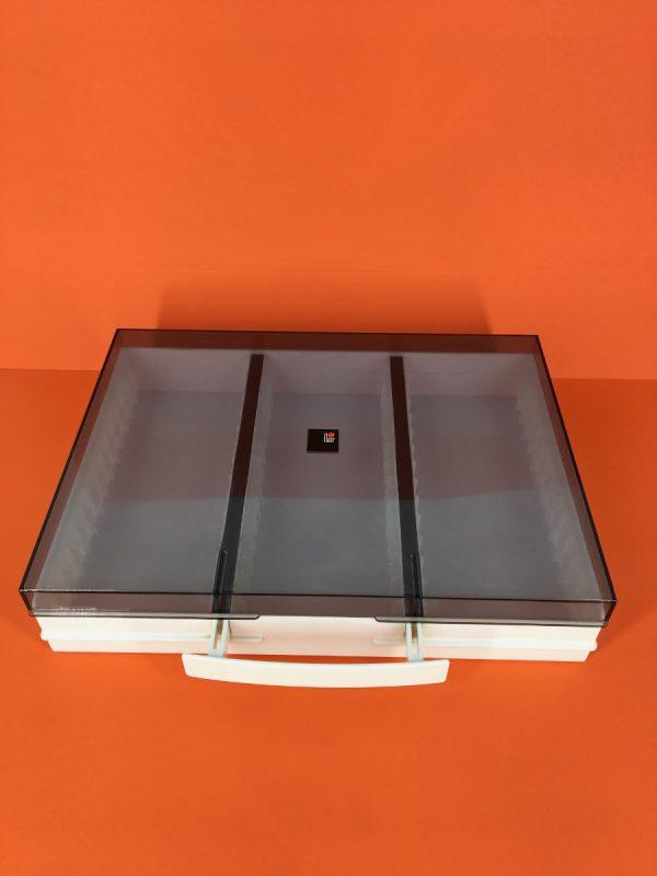 Flair vintage music tape storage holder - 42 cassette box - 80's suitcase