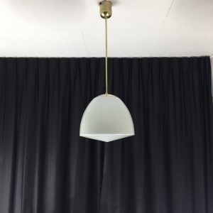 PHILIPS PHILITE school lamp - Mid century modern milk glass ceiling light - vintage hanging lamp - Dutch design pendent