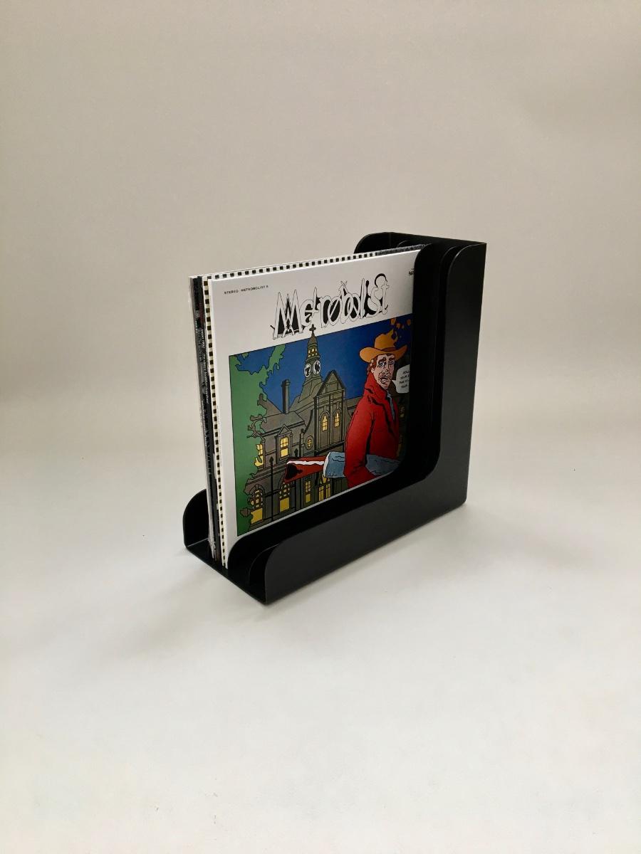 Retro Record Holder - black Boa Inter - lp box - 12 inch vinyl box