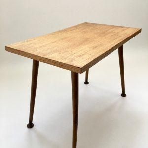 Vintage site table - 60's plant stand - plywood with wood veneer