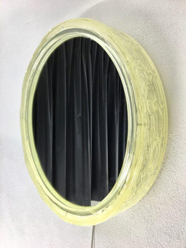 Vintage Original Duscholux mirror wall light - 70's ice Lucite fluorescent lamp - Hollywood regency xl